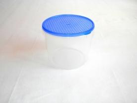 Mércés, műanyag ételdoboz hengeres 1 L kék