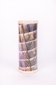 Ruhazsák vágókéssel vastag 55 m Rollbox nyakkendő mintás