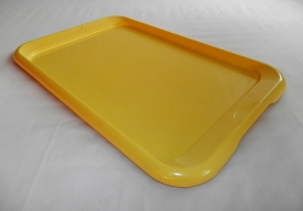 Tálca műanyag 60 x 38,5 cm sárga