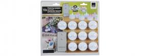 Home LED-es teamécses 10 db + távirányító (EDC 4142)