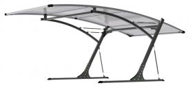 G21 Carport mobilgarázs szürke-fekete (6390042)
