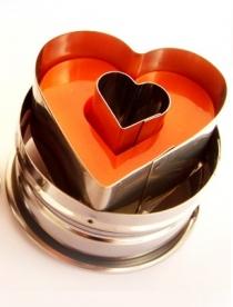 Linzerkiszúró rúgós, szív (10350)