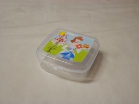Szendvicstartó műanyag doboz, hercegnős víztiszta