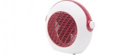 Home hordozható ventilátoros fűtőtest, piros (FK 37/RD)