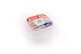 Szögletes műanyag ételdoboz, dátumjelzős  0,8 l