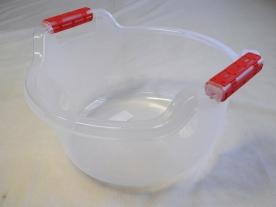 Fogantyús műanyag lavór, 10 l, víztiszta