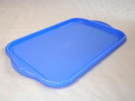 Tálca kék műanyag 38,5x26x2 cm
