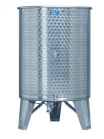 Inox 500 l-es bortartály, úszófedeles, paraffinos, 3 csappal (Zottel) (10488)