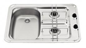 Dometic beépíthető gázfőzőlap + mosogató MO917L, PB-gáz üzemű