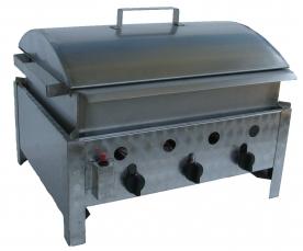 BGT-3 háromégős asztali kukorica főző rozsdamentes tálcával és fedővel, földgáz üzemű