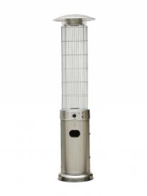 Teraszfűtő hőkandeláber, hősugárzó torony, BYH-B-SS