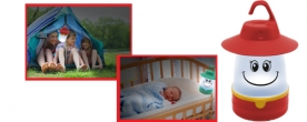 Home gyermek kempinglámpa LED-es, sárga (CL 7L/YE)