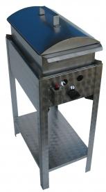 BGS-1 egyégős álló kukorica főző rozsdamentes tálcával és fedővel, PB-gáz üzemű