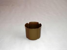 Virágtartó kaspó, szirom formájú, 8 cm, bronz színű műanyag