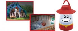 Home gyermek kempinglámpa LED-es, piros (CL 7L/RD)