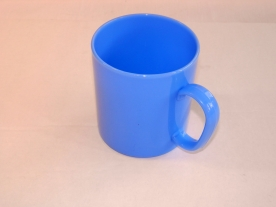Füles műanyagbögre 2,75 dl kék