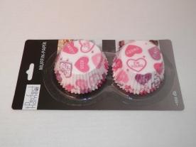 Muffinpapír szivecskés 100 db, nagy (72101-5)