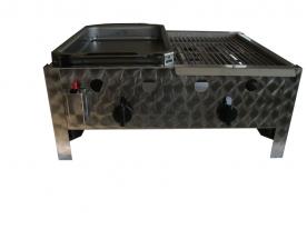 BGT-2 kétégős asztali kombigrill készülék, földgáz üzemű