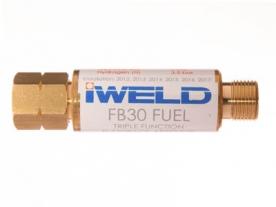 Iweld FB30 visszavágás-gátló patron reduktorra, égőgázhoz G3/8 LH