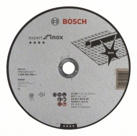 Bosch Expert for Inox daraboló tárcsa egyenes, AS 46 T INOX BF, 230 mm, 22,23 mm, 2 mm (2608600096)