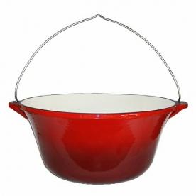 Zománcozott öntöttvas bogrács 7,2 L piros (12010)