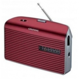 Grundig táskarádió, vörös (MUSIC-60R)