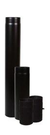 Vastag falú füstcső 160/1000 mm (13037)