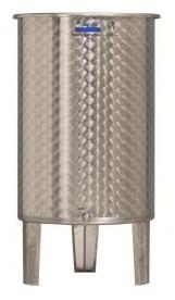 Inox 500 l-es bortartály, úszófedeles, paraffinos, 1 csappal (Zottel) (10487)