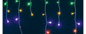 Home LED-es fényfüggöny, színes (KAF 200L 10M/M)