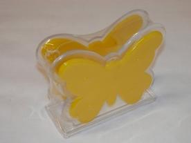 Pillangós műanyag szalvétatartó, sárga
