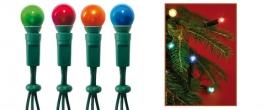 Home gömb izzós fényfüzér színes (KI 50/B)