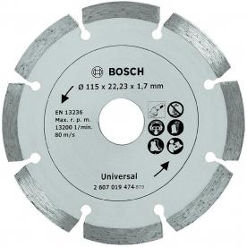 Bosch gyémánt vágótárcsa építési anyagokhoz, 115 mm (2607019474)
