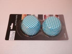 Muffinpapír kék kockás 100 db, nagy (72101)