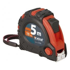 Extol Premium mérőszalag 3 stoppos 5mx19mm, gumis (3125)