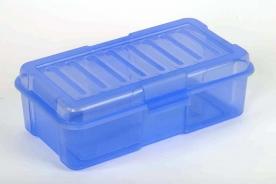 Univerzális átlátszó műanyag doboz, kék 2,9 l