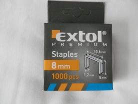 Extol Premium tűzőgépkapocs 8 mm, 1000 db (8852202)