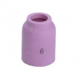 Kerámia gázlencsés gázterelő fúvóka 6-os, 9,5 mm SR9/20/24-hez