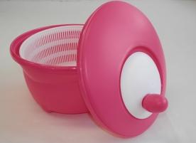 Salátacentrifuga pink műanyag