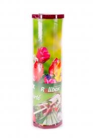 Frissentartó fólia vágókéssel vastag Rollbox 270 m tulipán mintás