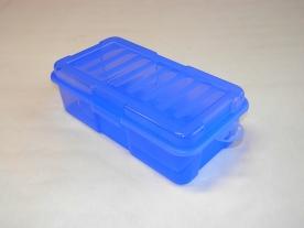 Univerzális átlátszó műanyag doboz 1,9 l - kék
