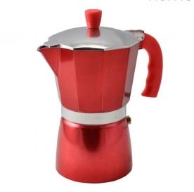 Kávéfőző 6 személyes kotyogós, piros (10062)
