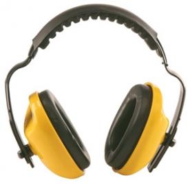 Earline MAX 400 sárga fültok párnázott fejpánttal (31040)