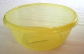 Körtál műanyag 32 cm sárga átlátszó