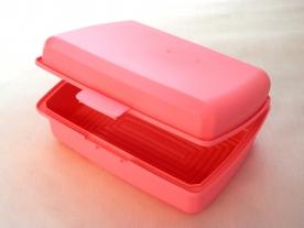 Uzsonnás műanyag doboz rózsaszín