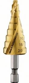 Bosch HSS-TiN lépcsős fúró 9 lépcsővel 4-20 mm (2608587433)