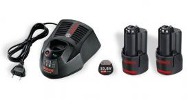 Bosch akkukészlet (2 db akku GBA 10,8V 2,5Ah O-B + gyorstöltő AL1130CV)