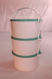 Családi műanyag ételhordó 3 részes 2 l