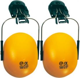 Earline sárga fültok, sisakra szerelhető, állítható fémpánt (60750)