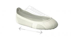 Lábbelire húzható csúszásgátló védőtalp, fehér Easy- Grip (9EGB3) L-es