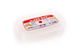Dátumjelzős, műanyag téglalap micro doboz 1,5 l